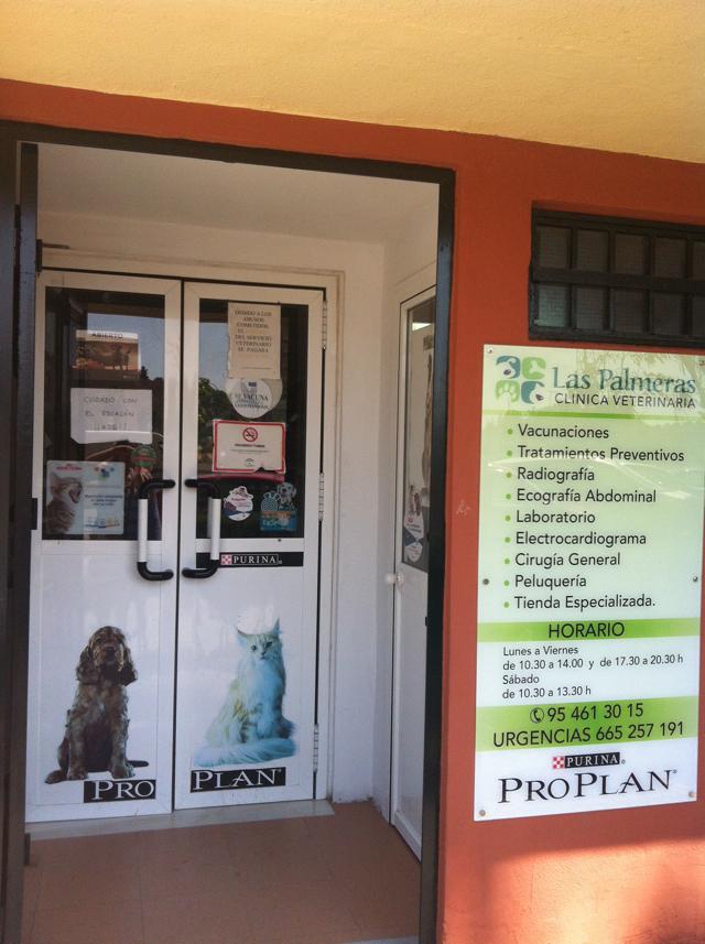 fachada clinica veterinaria las palmeras